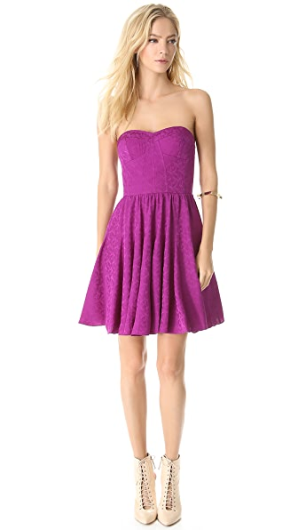 Rebecca Taylor Textured Strapless Dress