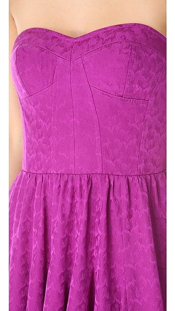 Rebecca Taylor Textured Strapless Dress
