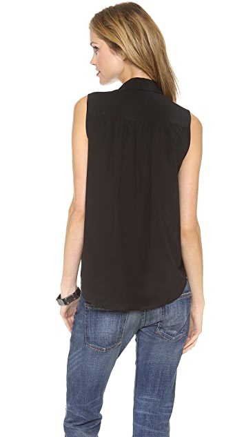 Rebecca Taylor Embellished Sleeveless Top