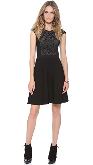 Rebecca Taylor Cap Sleeve Dress