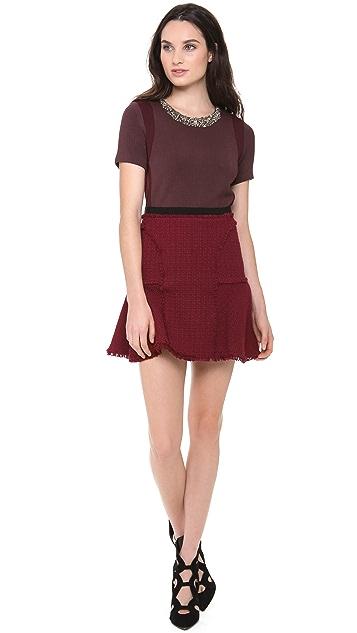 Rebecca Taylor Tweed Flounce Skirt