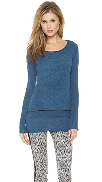 Rebecca Taylor Boucle Layered Pullover