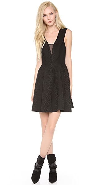 Rebecca Taylor Halter Cloque Dress