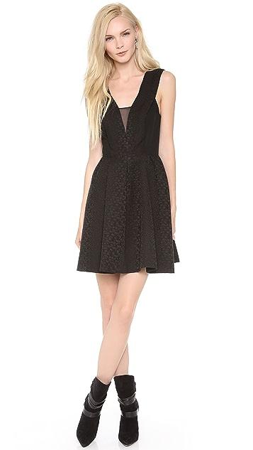 Rebecca Taylor Halter Cloque Dress