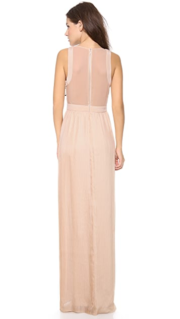 Rebecca Taylor Scroll Embellished Gown