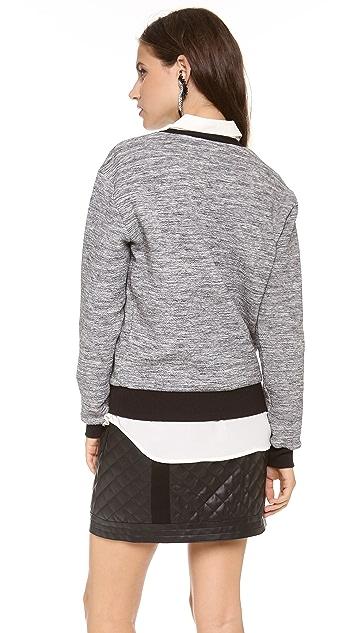 Rebecca Taylor Melange Knit Sweatshirt