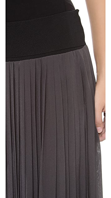 Rebecca Taylor Maxi Pleated Skirt
