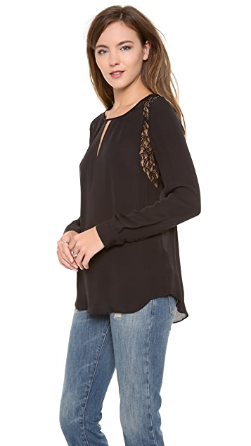 Rebecca Taylor Lace Inset Blouse