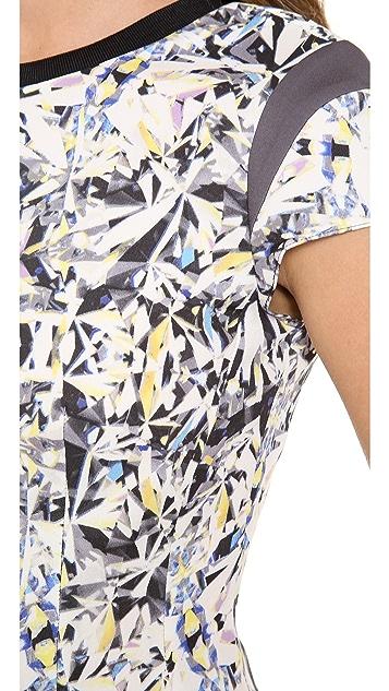 Rebecca Taylor Diamond Print Cap Sleeve Tee
