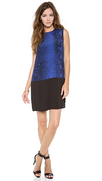 Rebecca Taylor Sleeveless Python Shift Dress