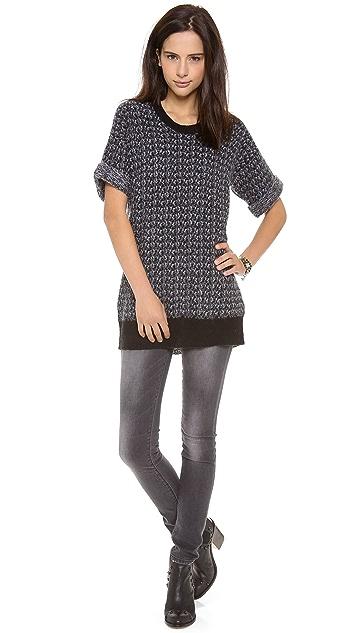Rebecca Taylor Short Sleeve Pullover