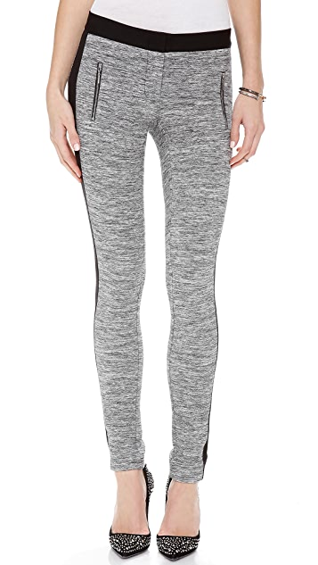 Rebecca Taylor Melange Knit Side Stripe Pants