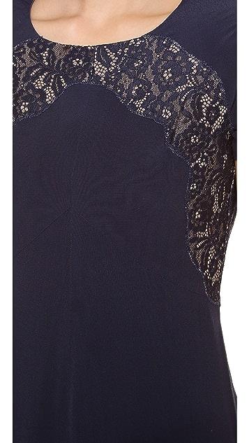 Rebecca Taylor Crepe & Lace Dress