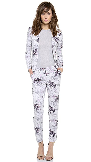 Rebecca Taylor Floral Print Trousers