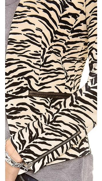 Rebecca Taylor Tiger Print Blazer