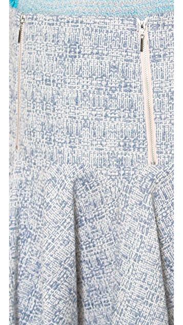 Rebecca Taylor Tweed Skirt with Zips