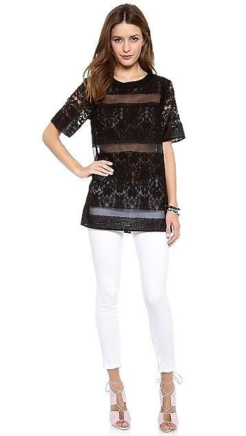 Rebecca Taylor Runway Brocade and Lace Tunic