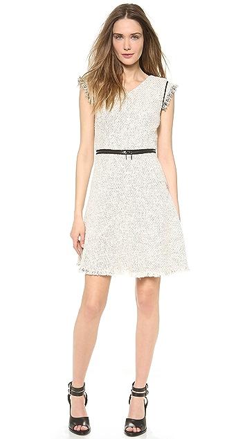 Rebecca Taylor Zip Waist Tweed Dress