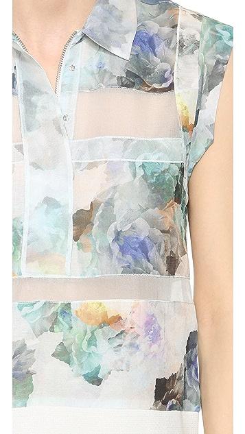 Rebecca Taylor Enchanted Gardens Collar Top