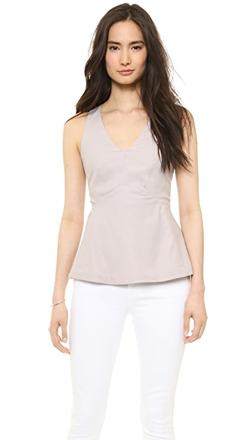 Rebecca Taylor Sleeveless V Neck Top