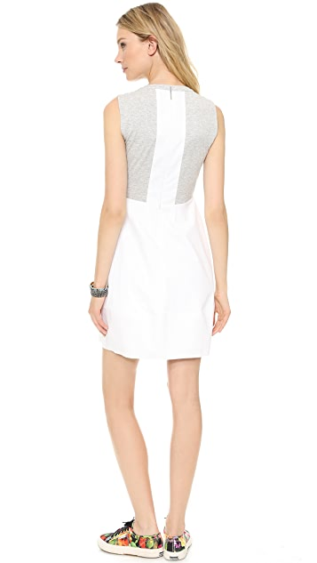 Rebecca Taylor Gathered Front Poplin Dress