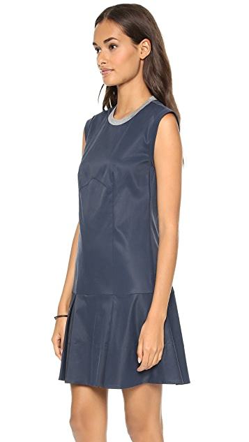 Rebecca Taylor Drop Waist Poplin Dress