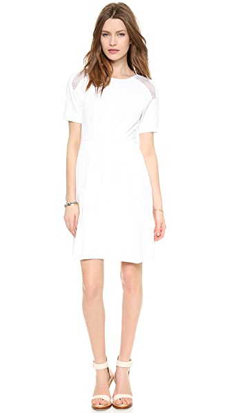 Rebecca Taylor Poplin Dress with Mesh