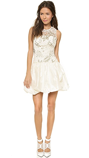 Rebecca Taylor Embellished Guipure Combo Dress