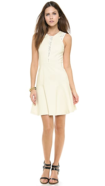Rebecca Taylor Lace & Ponte Dress
