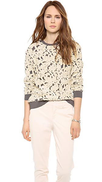 Rebecca Taylor Floral Sweatshirt