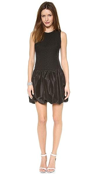Rebecca Taylor Cloque & Taffeta Pouf Dress