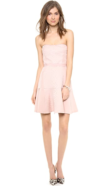 Rebecca Taylor Strapless Cloque Dress