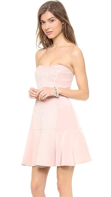 Rebecca Taylor Strapless Cloque Dress
