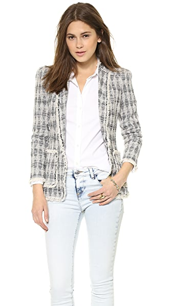 Rebecca Taylor Diamond Tweed Blazer