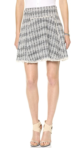 Rebecca Taylor Diamond Tweed Skirt