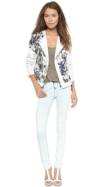 Rebecca Taylor Grey Gardens Matelasse & Leather Jacket
