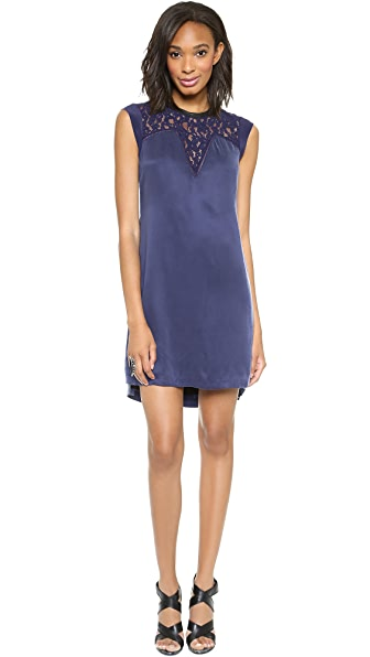 Rebecca Taylor Lace Mix Shift Dress