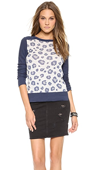 Rebecca Taylor Blocked Leop Sweater