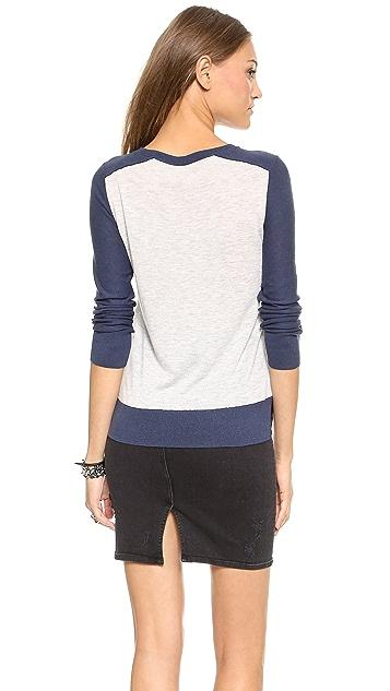 Rebecca Taylor Blocked Leop Sweater