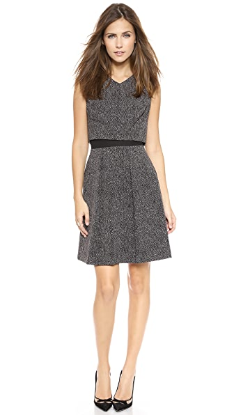 Rebecca Taylor Herringbone Suiting Dress