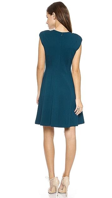 Rebecca Taylor Ponte Crew Neck Dress