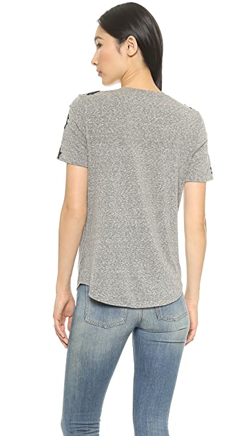 Rebecca Taylor Top with Lace Piecing