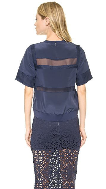 Rebecca Taylor Pieced Blouse