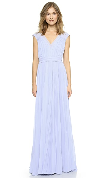 Rebecca Taylor Poly Pleated Gown