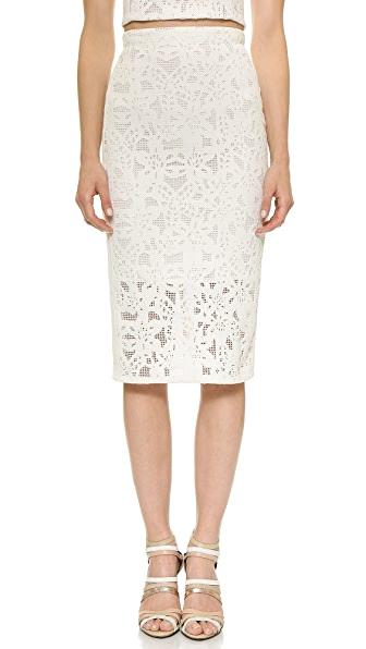 Rebecca Taylor Die Cut Pencil Skirt