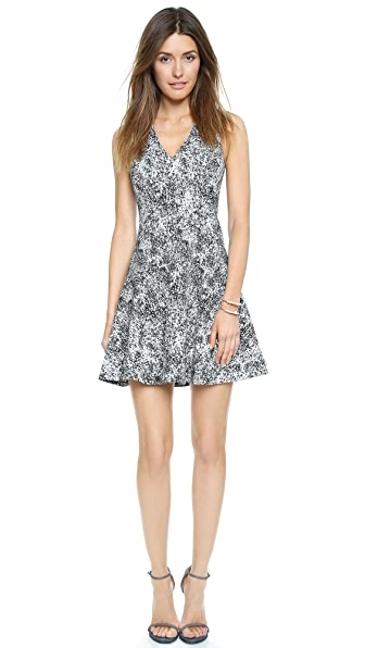 Shop Rebecca Taylor online and buy Rebecca Taylor Animal Jacquard Dress Black dresses online