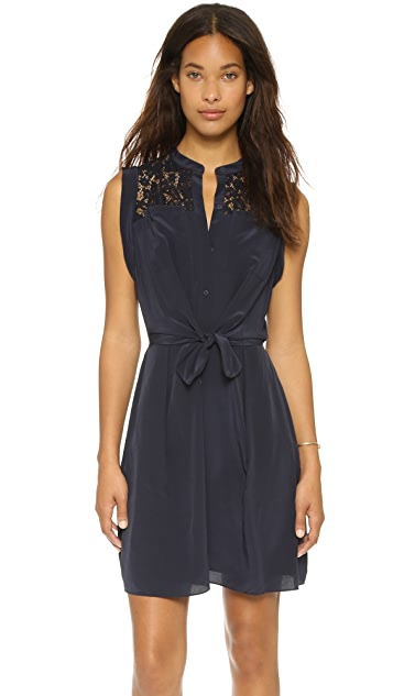 Rebecca Taylor Silk & Lace Shirtdress