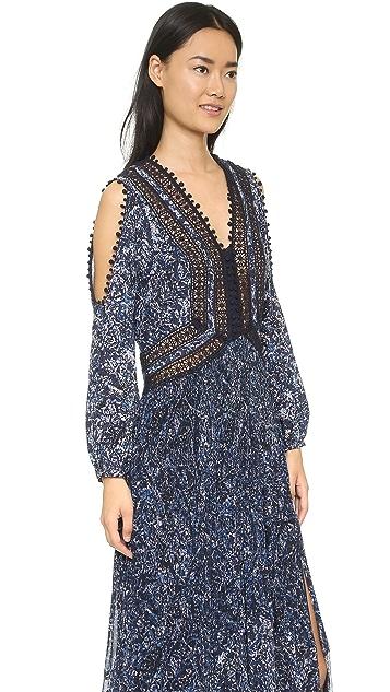 Rebecca Taylor Block Print Maxi Dress
