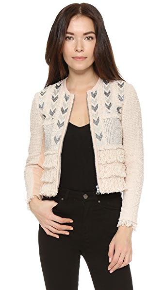 Rebecca Taylor Embroidered Fringe Jacket - Movida