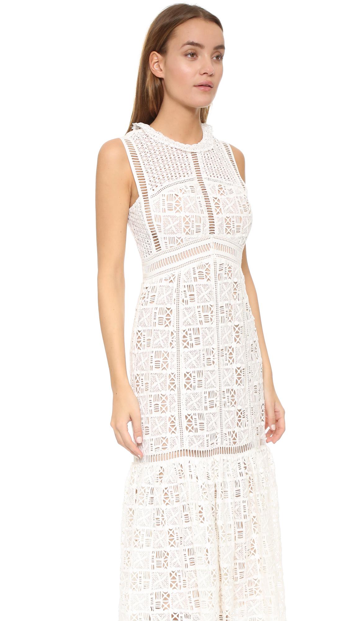 Rebecca Taylor Sleeveless Lace Crochet Dress | SHOPBOP